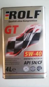 Масло моторное ROLF GT 5w40 SN/CF синтетика 4л