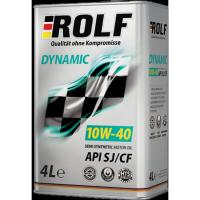 Масло моторное ROLF Dynamic 10w40 SJ/CF полусинтетика 4л