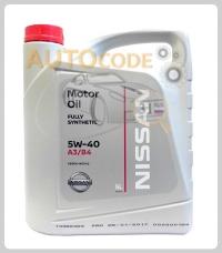 NISSAN MOTOR OIL 5W40