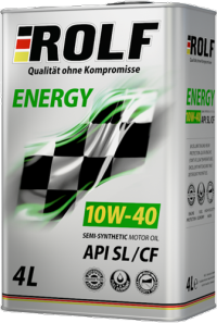 Масло моторное ROLF Energy 10w40 SL/CF полусинтетика 4л